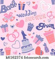 Wedding Shower Seamless
