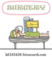 Woman Having Surgery