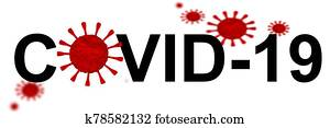 covid-19 coronavirus covid 19 background isolated in white - 3d rendering