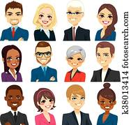 Business People Avatar Set Collection