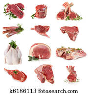 Cuts of Raw Meat