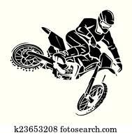 Moto cross rider