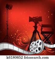 movie theme illustration