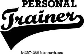 Personal trainer retro font