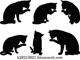 cat pose clipart eps images 2811 cat pose clip art