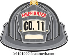 Firefighter Helmet Black