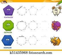 einfach geometrische formen mit karikatur gesichter clipart k10467950 fotosearch. Black Bedroom Furniture Sets. Home Design Ideas