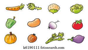 vegetables, peppers, kale, lettuce,