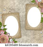 vintage frame with flowers