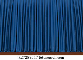 Blue theater curtain, background