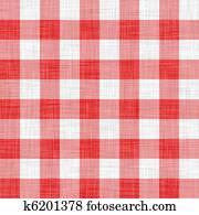 digitally made red picnic cloth