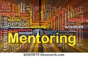 Mentoring background concept