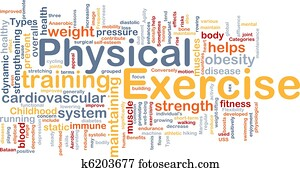Physical exercise background concept