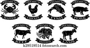 Premium food groups set