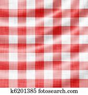 wavy red picnic cloth