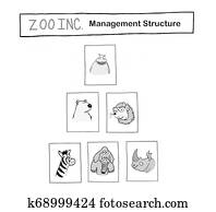 Zoo Inc has a management pyramid