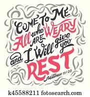 kommen, to, mir, alles, wer, ar, müde, bibel, notieren