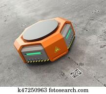 Orange warehouse robot