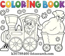 Christmas Coloring Book Clip Art Vectors | 1000+ Christmas Coloring ...