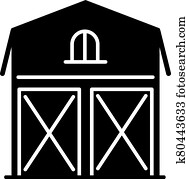 Barn black glyph icon