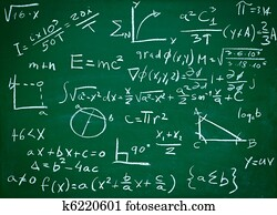 math formulas on school blackboard education