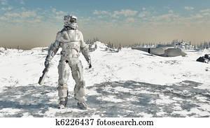 Space Marine - Ice Warrior
