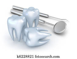 Teeth and dental instruments