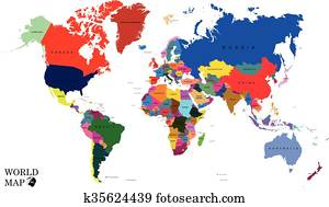World map - countries