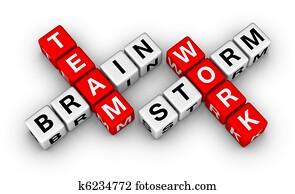 brainstorm and teamwork