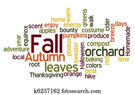 Fall Colors Wordcloud