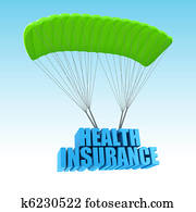 Health Insurance 3d concept illustration