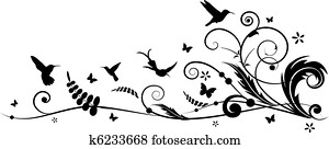kolibri, und, batterflies