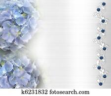 Wedding invitation Hydrangea BG