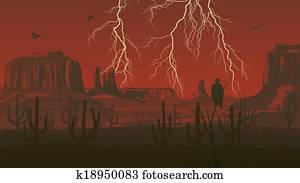 Wild west with lightning.