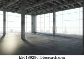 Contemporary concrete interior