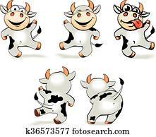 Bull Dancing Clip Art | k3706437 | Fotosearch