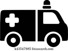 krankenwagen, auto, symbol