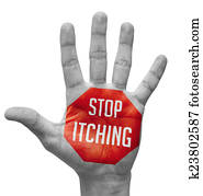 Stop Itching on Open Hand.