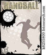 Handball abstract background