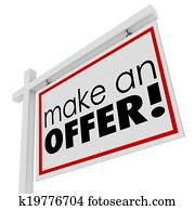Make an Offer Words For Sale Real Estate Sign Buyer Price