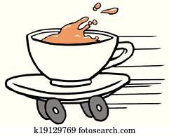 schnellessen, bohnenkaffee