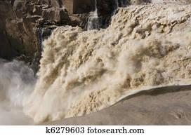 raging river after a flood