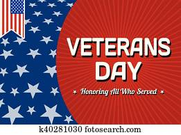 Veterans day celebration card