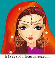 Avatar Girl With Indian Makeup
