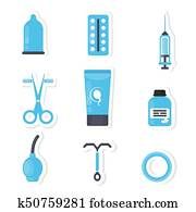 Contraception concept illustration.