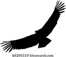 Condor Clip Art Royalty Free. 499 condor clipart vector ...