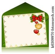 Christmas celebratory envelope