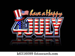 Happy July 4th Black