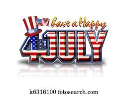 Happy July 4th White