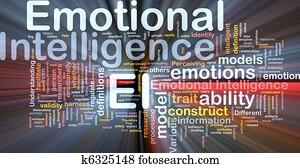 Emotional intelligence background concept glowing